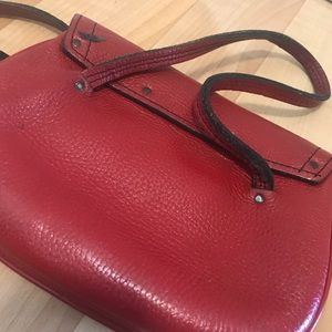Bags - Vintage Red Leather small hand bag